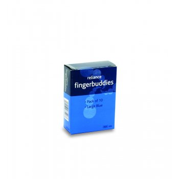 Fingerbuddies Finger Bandage Tube Blue Large Box of 10
