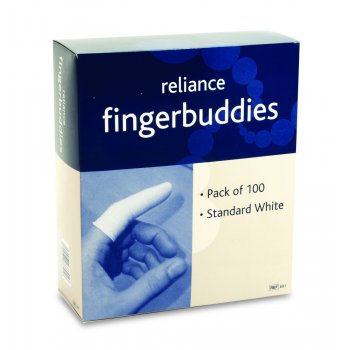 Fingerbuddies Finger Bandage Tube White Standard Box of 100