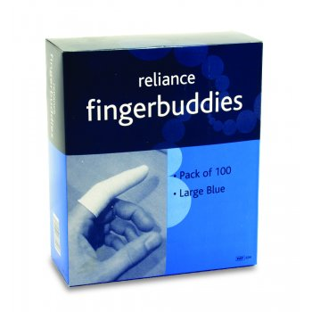 Fingerbuddies Finger Bandage Tube Blue Large Box of 100