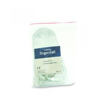 Reliance Finger stall Extra Large Clear Pack 10