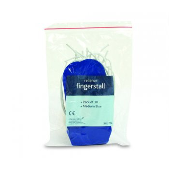 Reliance Finger stall Medium Blue Pack 10