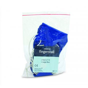Reliance Finger stall Large Blue Pack 10