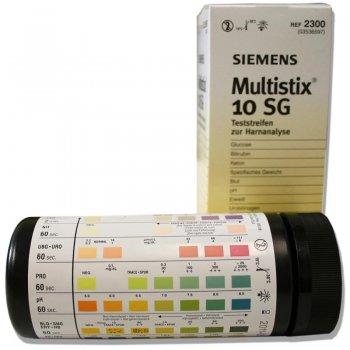 Multistix 10 SG - Bayer Reagent Strips for Urinalysis, 100 test strips