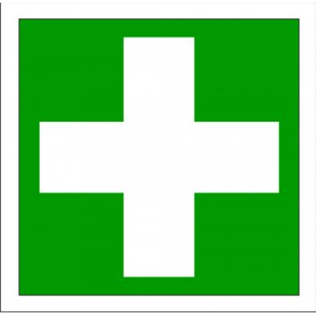 First Aid Sign White Cross 150 X 150mm Vinyl