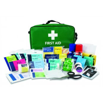Reliance Stadium Sports Frist Aid Kit in Green Paris Bag