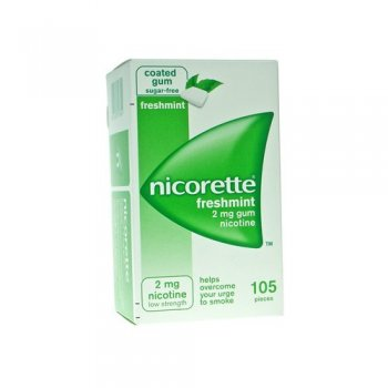 Nicorette Gum 2mg Fresh Mint (105)