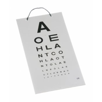 Eye Test Chart Wall Hanging Plastic 6M (Direct)