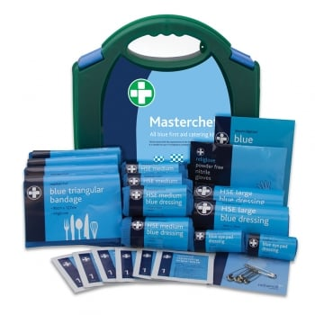 Masterchef All Blue First Aid Catering Kit - Restaurants, Cafe's Etc (10,20,50 persons)