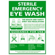 Emergency Eye Wash Sign - Rigid 297mm x 210mm