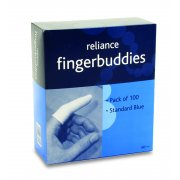 Finger Bandage Tube Blue Standard Box of 100